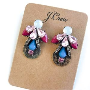 Jcrew vintage floral statement earrings